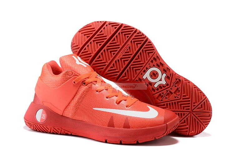 Nike Kd Trey 5 Iv Orange Blanc Chaussure de Basket