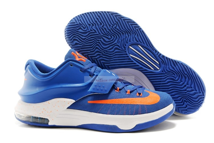 Nike Kd Vii 7 Bleu Orange Chaussure de Basket