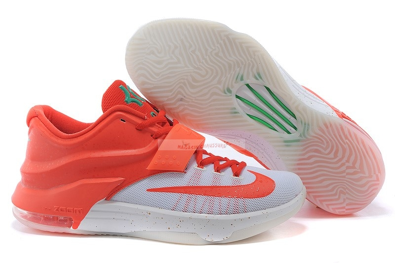"Nike Kd Vii 7 ""Christmas"" Orange Blanc (707560-613) Chaussure de Basket"