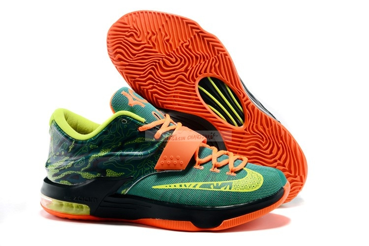 "Nike Kd Vii 7 Vii ""Weatherman"" Vert Orange (653996-303) Chaussure de Basket"