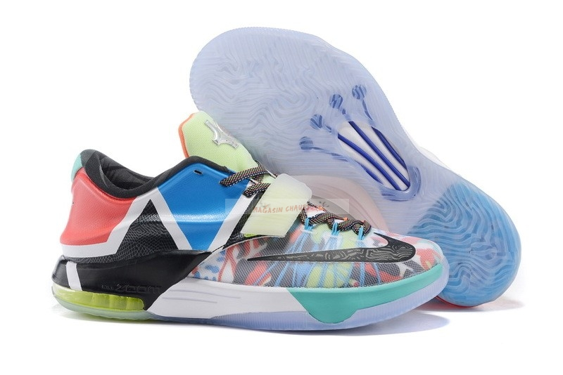 "Nike Kd Vii 7 ""What The"" Multicolore Noir (812329-944) Chaussure de Basket"