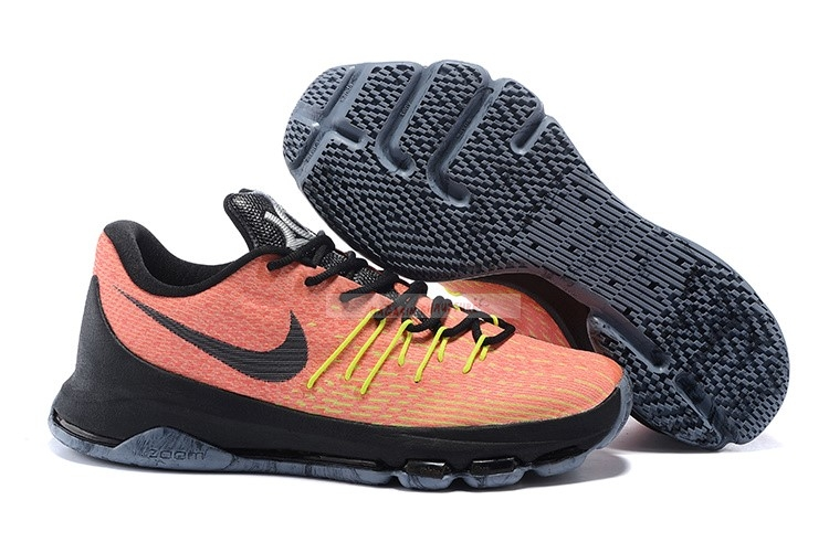 "Nike Kd Viii 8 - Femme ""Hunts Hill Sunrise"" Orange Noir Chaussure de Basket"