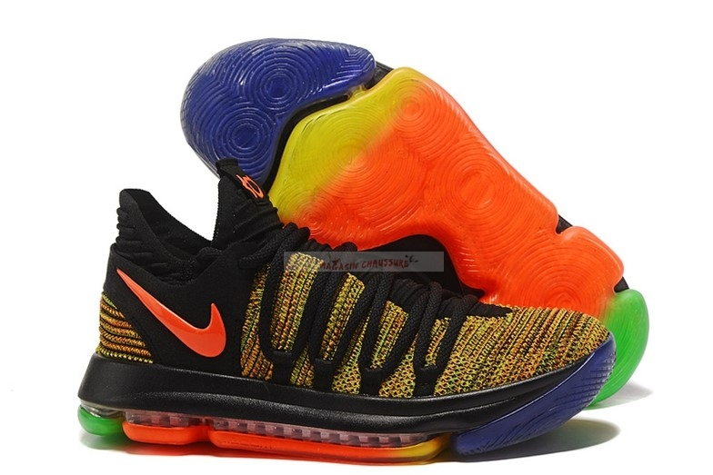 "Nike Kd X 10 ""Peach Jam Eybl"" Noir Orange Chaussure de Basket"