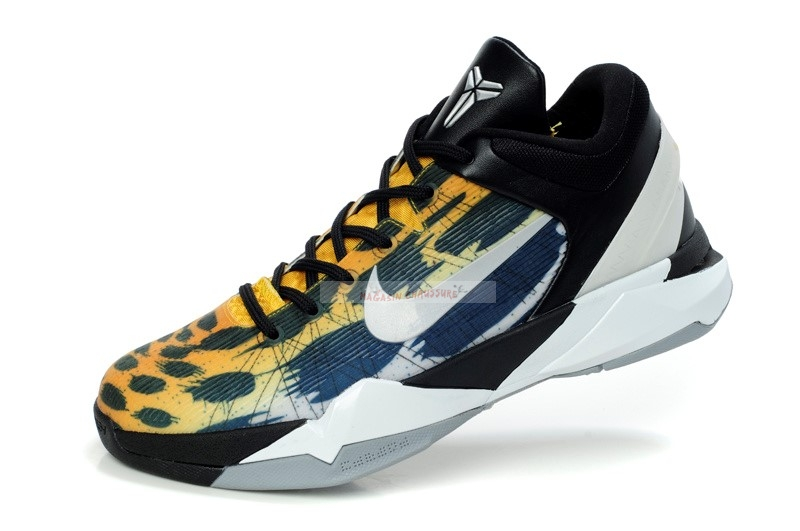 "Nike Kobe Vii 7 ""Cheetah"" Orange Gris Noir Chaussure de Basket"