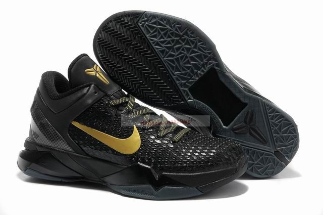 "Nike Kobe Vii 7 Elite ""Away"" Noir Or Chaussure de Basket"