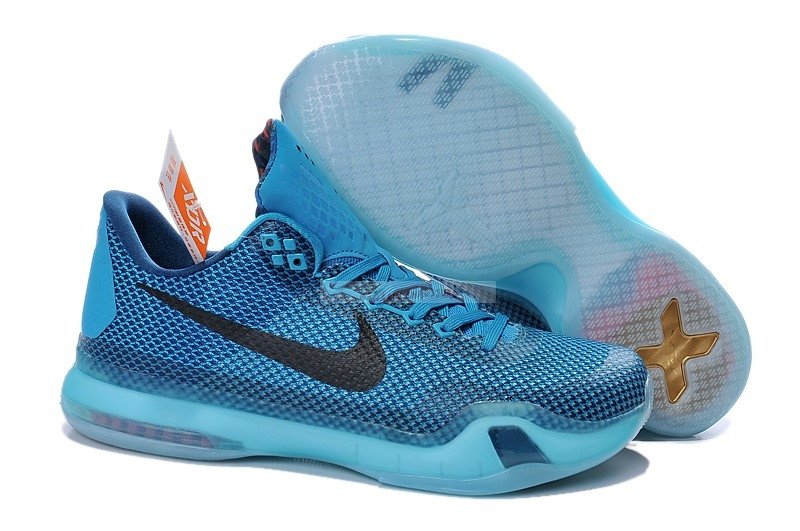 "Nike Kobe X 10 ""5Am Flight"" Bleu Chaussure de Basket"