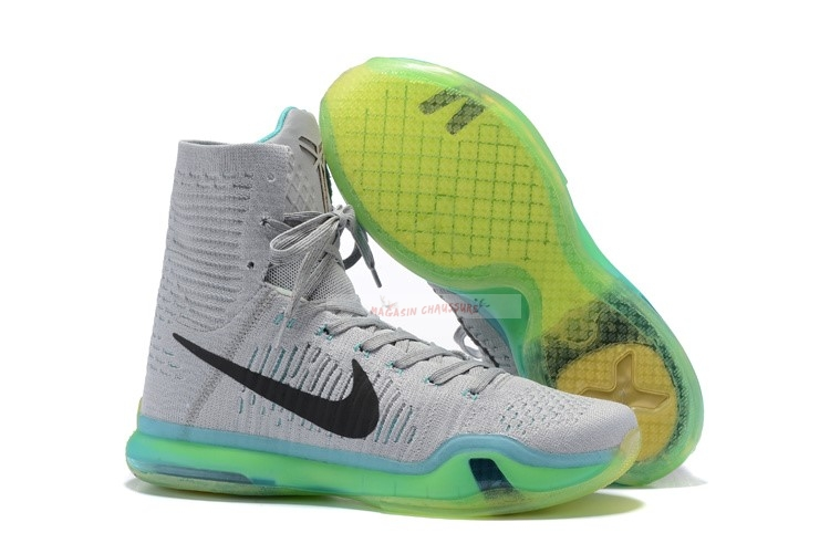 "Nike Kobe X 10 Elite High ""Elevate"" Gris Vert Chaussure de Basket"
