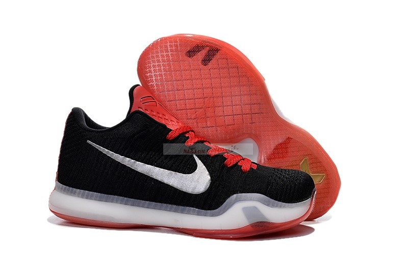 Nike Kobe X 10 Elite Low Noir Rouge Chaussure de Basket
