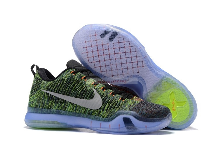 Nike Kobe X 10 Elite Low Vert Multicolore Chaussure de Basket