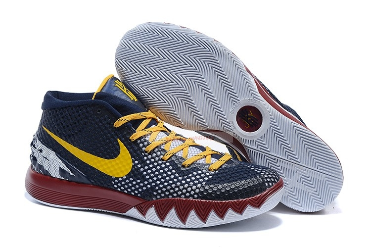 Nike Kyrie Irving I 1 Marine Rouge Jaune Chaussure de Basket