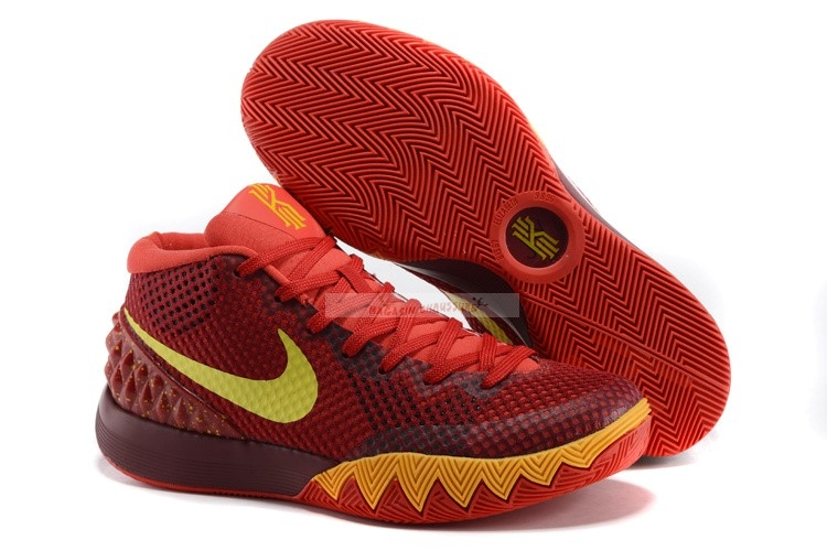 Nike Kyrie Irving I 1 Rouge Jaune Chaussure de Basket