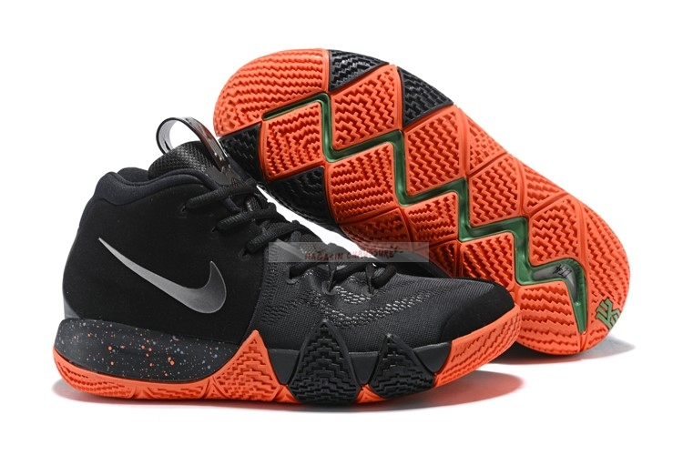 Nike Kyrie Irving Iv 4 Noir Orange Chaussure de Basket