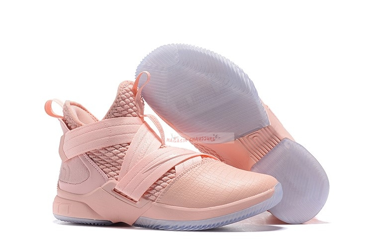 Nike Lebron Soldier Xii 12 Rose Chaussure de Basket