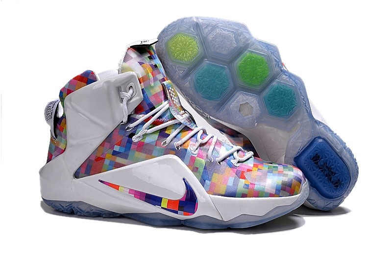 "Nike Lebron Xii 12 Ext ""Prism"" Rouge Blanc Chaussure de Basket"
