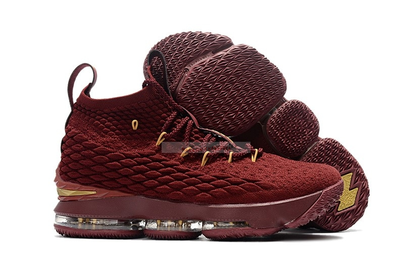 Nike Lebron Xv 15 - Femme Rouge Or Chaussure de Basket