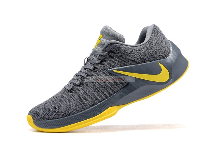 Nike Zoom Clear Out Low Gris Jaune Chaussure de Basket