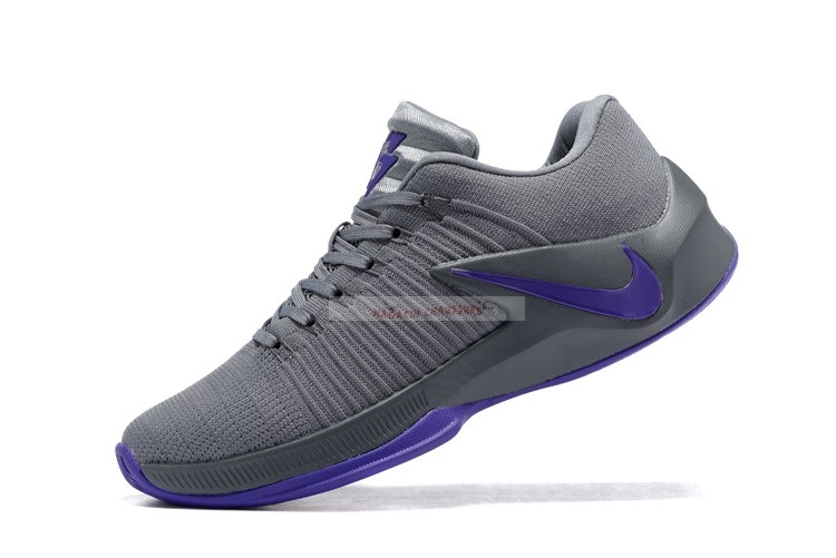 Nike Zoom Clear Out Low Gris Pourpre Chaussure de Basket