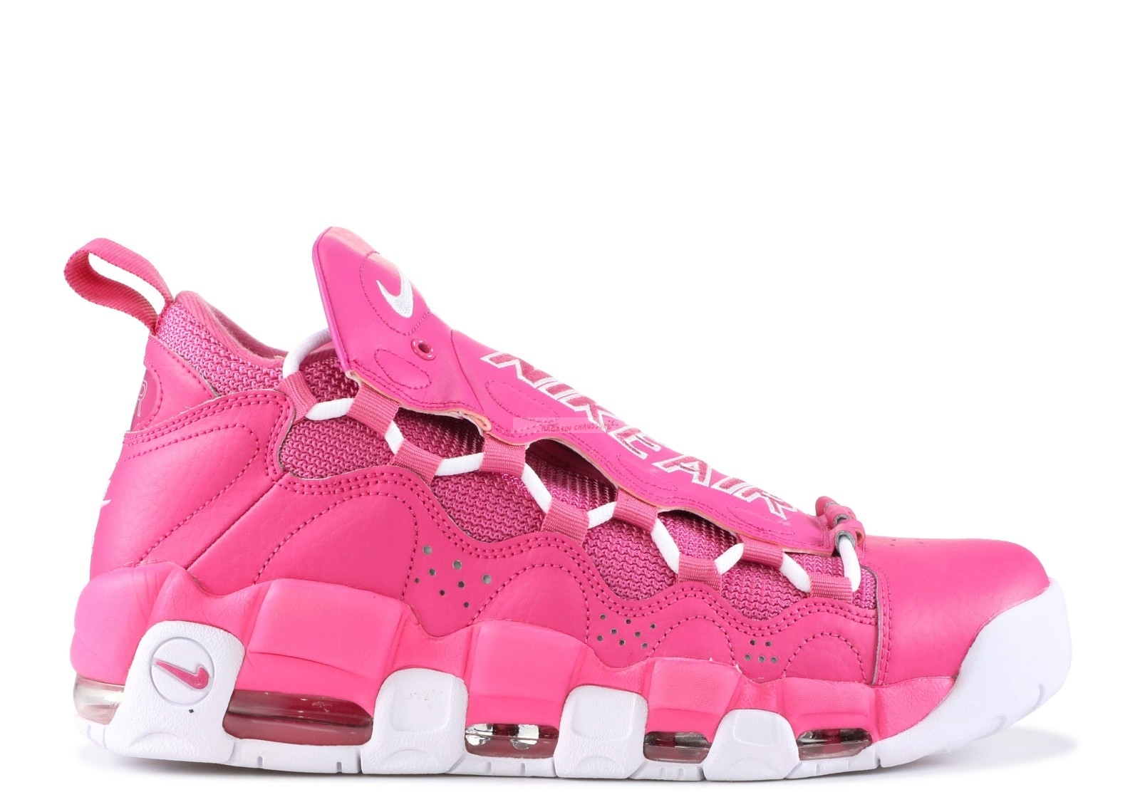 "Sneaker Room X Air More Money Qs ""Breast Cancer Awareness"" Rose Blanc (aj7383-600) Chaussure de Basket"