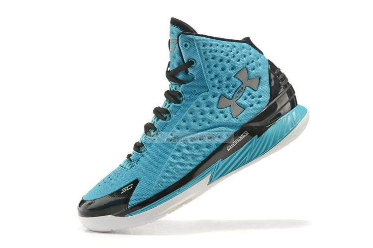Under Armour Curry 1 Bleu Noir Chaussure de Basket
