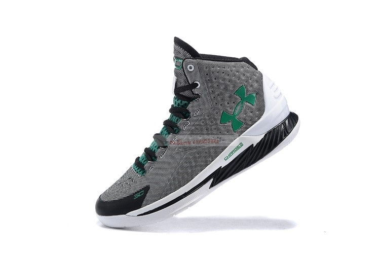 Under Armour Curry 1 Gris Vert Chaussure de Basket