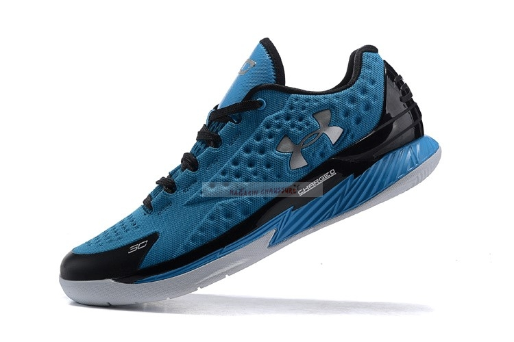 Under Armour Curry 1 Low Bleu Noir Chaussure de Basket