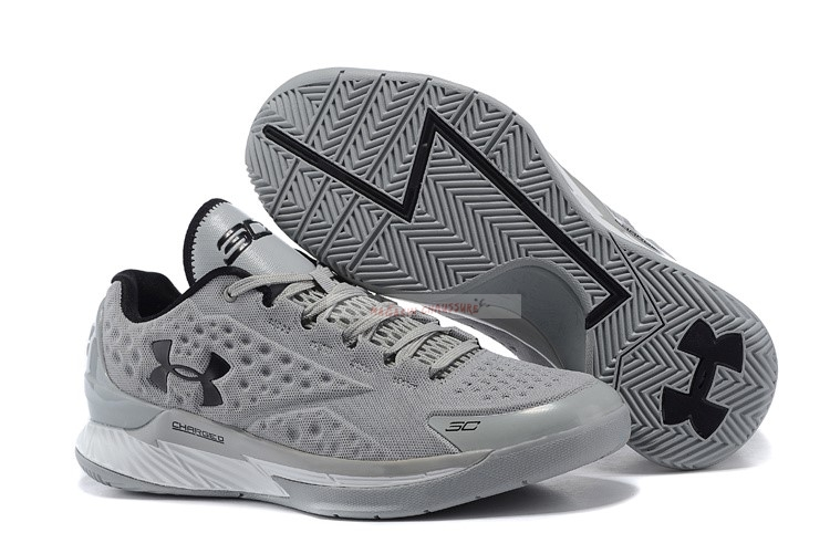 Under Armour Curry 1 Low Gris Noir Chaussure de Basket