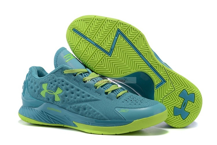 Under Armour Curry 1 Low Vert Volt Chaussure de Basket