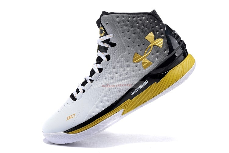 "Under Armour Curry 1 ""Mvp"" Noir Blanc Or Chaussure de Basket"
