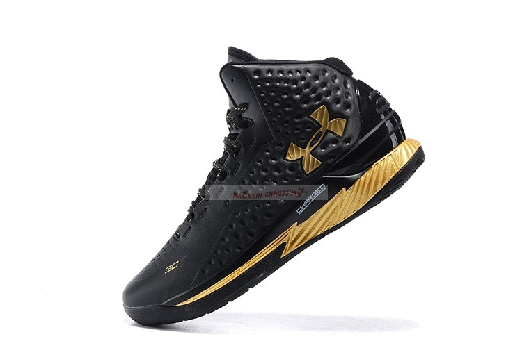 "Under Armour Curry 1 ""Mvp"" Noir Métallique Or Chaussure de Basket"