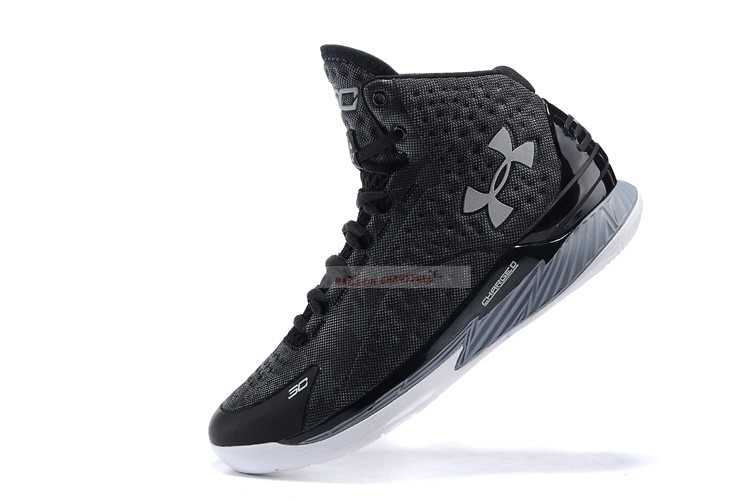Under Armour Curry 1 Noir Gris Chaussure de Basket