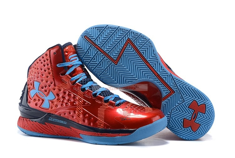 "Under Armour Curry 1 ""Top 100 Camp"" Pe Rouge Marine Bleu Chaussure de Basket"