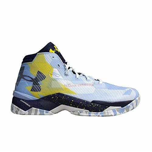 Under Armour Curry 2.5 Bleu Jaune Chaussure de Basket