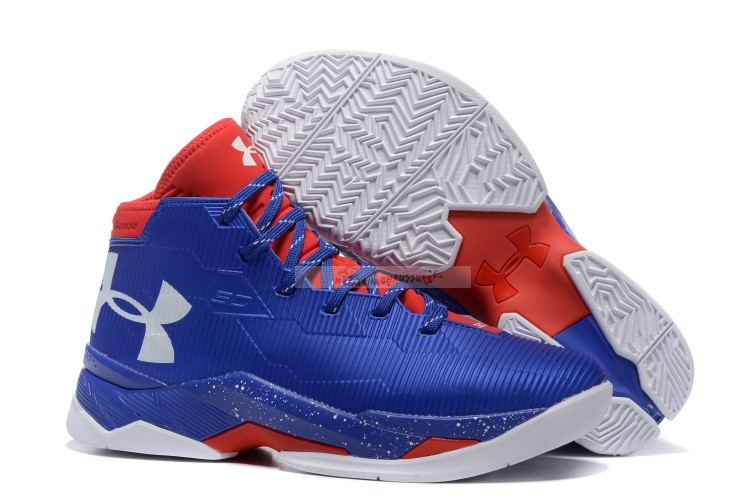 Under Armour Curry 2.5 Bleu Rouge Chaussure de Basket