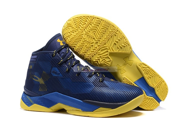 "Under Armour Curry 2.5 ""Dub Nation"" Marine Bleu Jaune Chaussure de Basket"