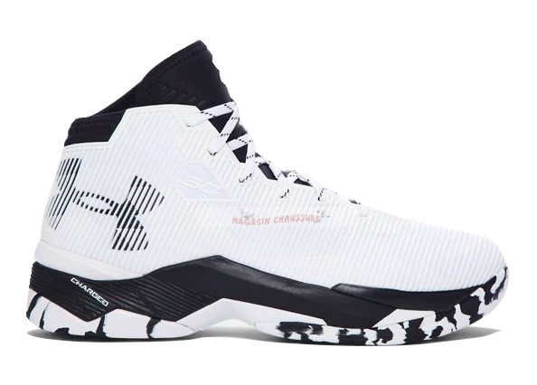"Under Armour Curry 2.5 ""Elemental"" Camo Blanc Noir Chaussure de Basket"