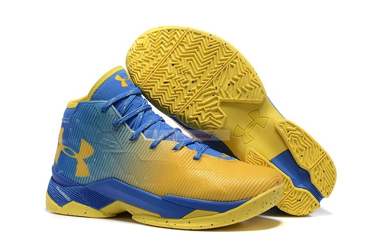 Under Armour Curry 2.5 Jaune Bleu Chaussure de Basket