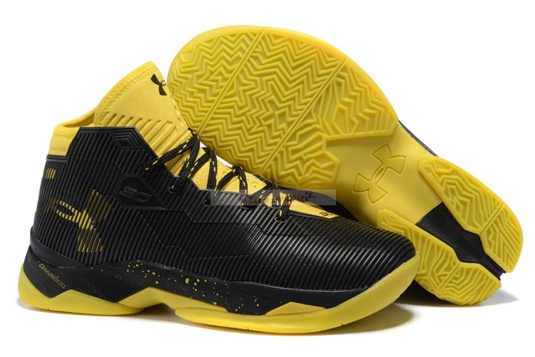 Under Armour Curry 2.5 Noir Jaune Chaussure de Basket