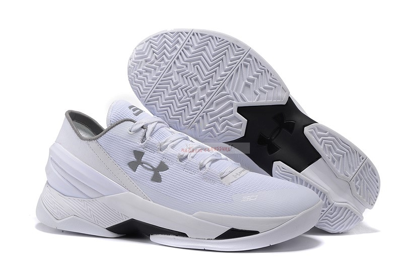Under Armour Curry 2 Low Blanc Chaussure de Basket