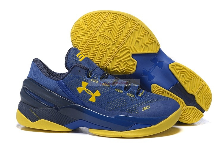 Under Armour Curry 2 Low Bleu Jaune Chaussure de Basket
