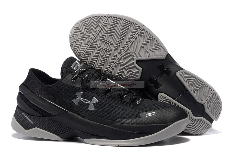 Under Armour Curry 2 Low Noir Gris Chaussure de Basket