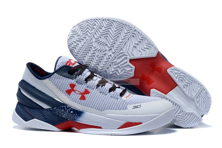 "Under Armour Curry 2 Low ""Usa"" Gris Chaussure de Basket"