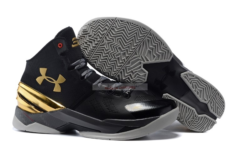 Under Armour Curry 2 Noir Or Chaussure de Basket