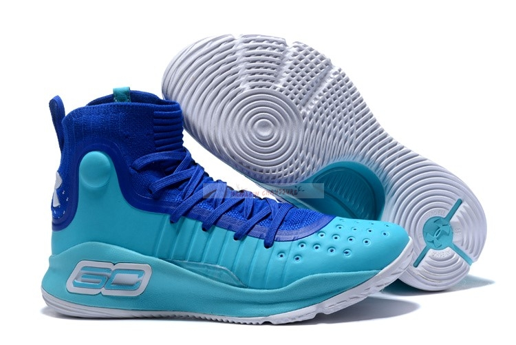 Under Armour Curry 4 Bleu Chaussure de Basket