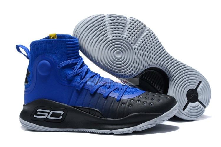 "Under Armour Curry 4 ""More Fun"" Bleu Noir Chaussure de Basket"