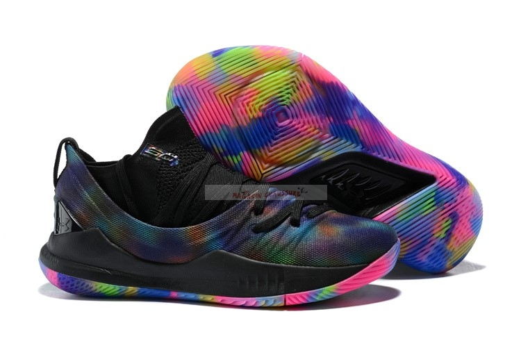 Under Armour Curry 5 Low Rainbow Noir Chaussure de Basket