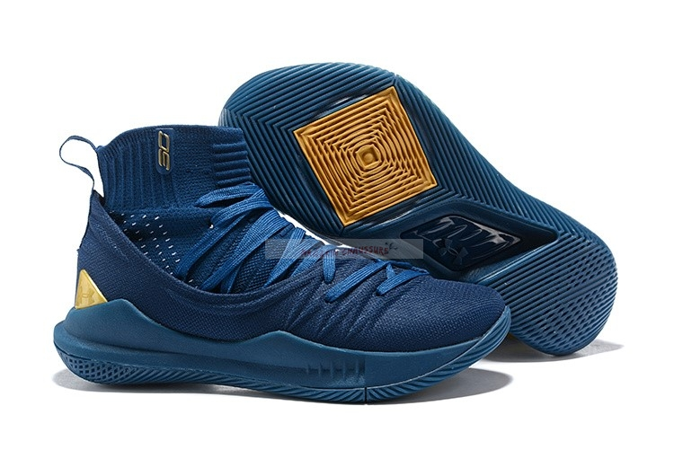 Under Armour Curry 5 Marine Or Chaussure de Basket