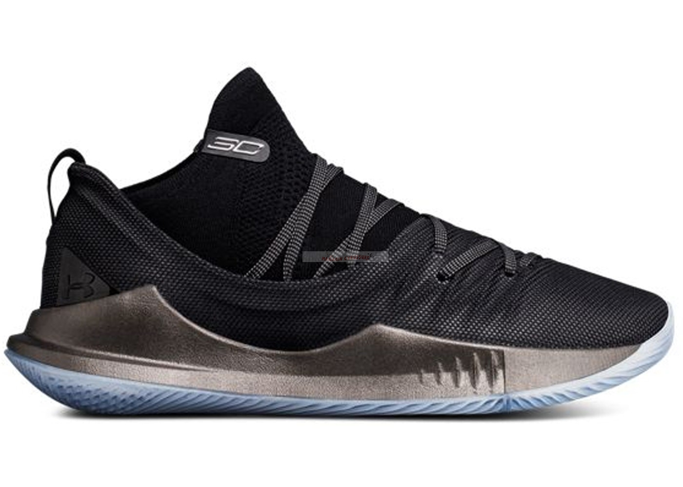"Under Armour Curry 5 ""Pi Day"" Noir Métallique Or (3020657-002) Chaussure de Basket"