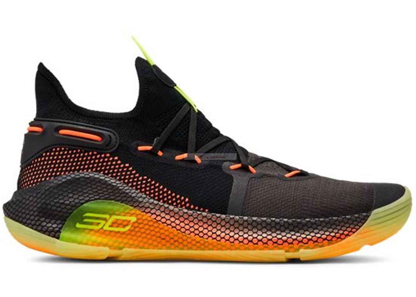 "Under Armour Curry 6 ""Fox Theatre"" Noir Jaune (3020612-004) Chaussure de Basket"