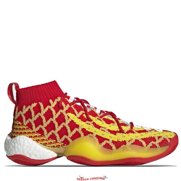 "Adidas Crazy Byw Pharrell - Homme ""Chinese New Year"" Rouge Jaune (EE8688) Chaussure de Basket"