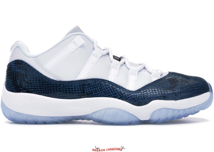 Air Jordan 11 - Homme Retro Low Snake 2019 Marine (CD6846-102) Chaussure de Basket